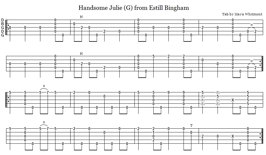 Lyric handsome molly lyrics : Old-Time Banjo Tabs